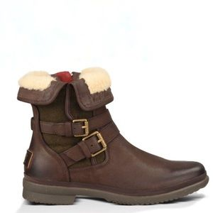 UGG Women's Simmens Buckle Boot Brown Suede